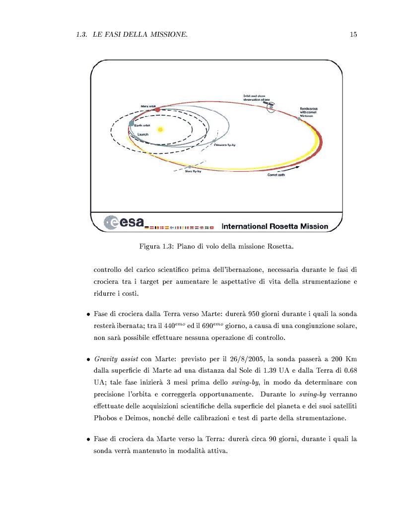 Anteprima della tesi: Missione Rosetta: caratterizzazione scientifica della Wide Angle Camera e studio fisico di corpi minori del Sistema Solare, Pagina 10