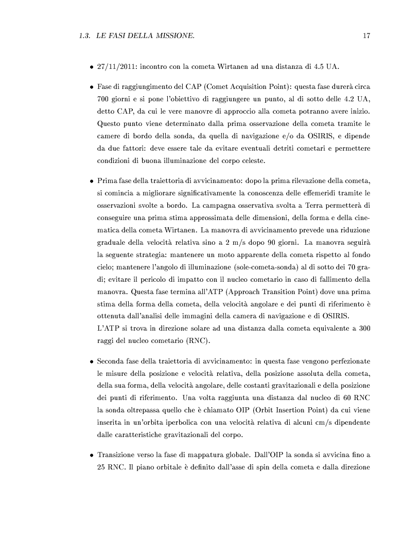 Anteprima della tesi: Missione Rosetta: caratterizzazione scientifica della Wide Angle Camera e studio fisico di corpi minori del Sistema Solare, Pagina 12