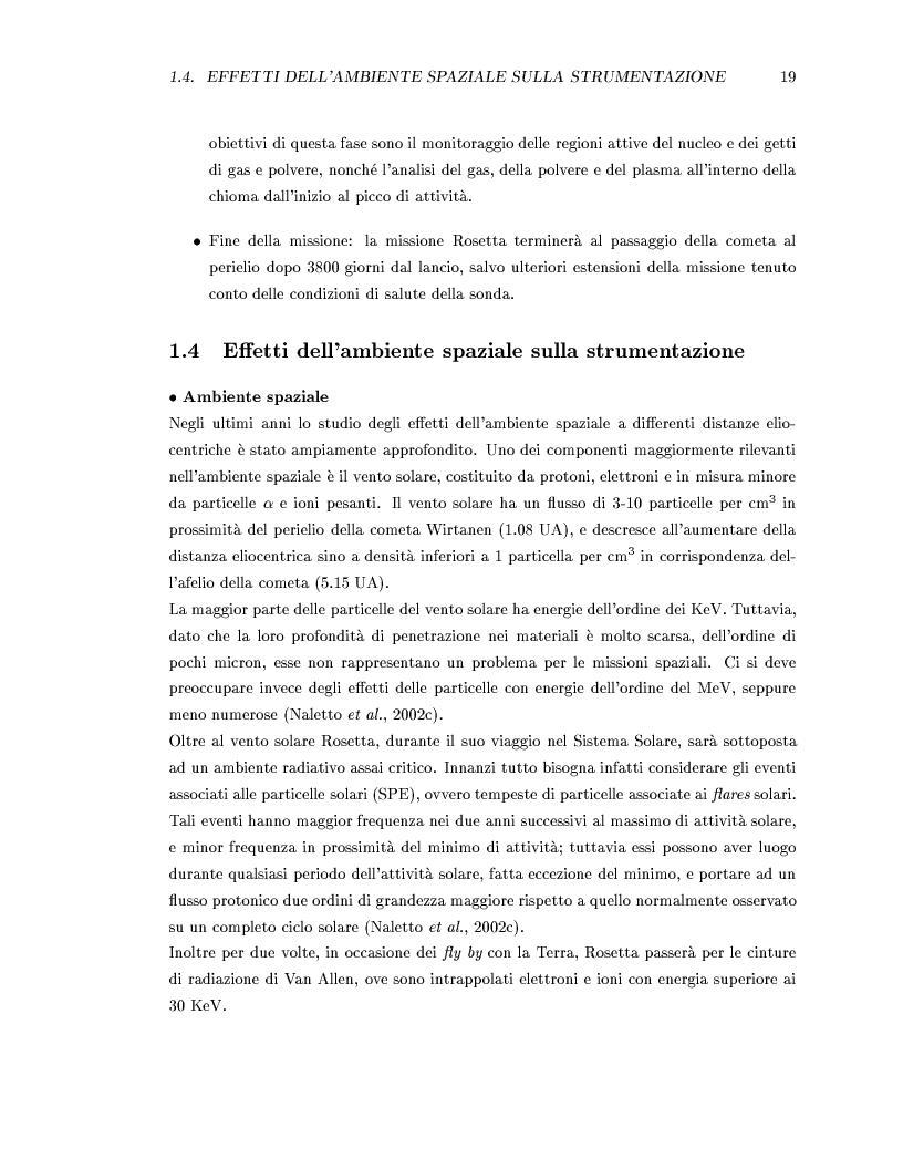 Anteprima della tesi: Missione Rosetta: caratterizzazione scientifica della Wide Angle Camera e studio fisico di corpi minori del Sistema Solare, Pagina 14