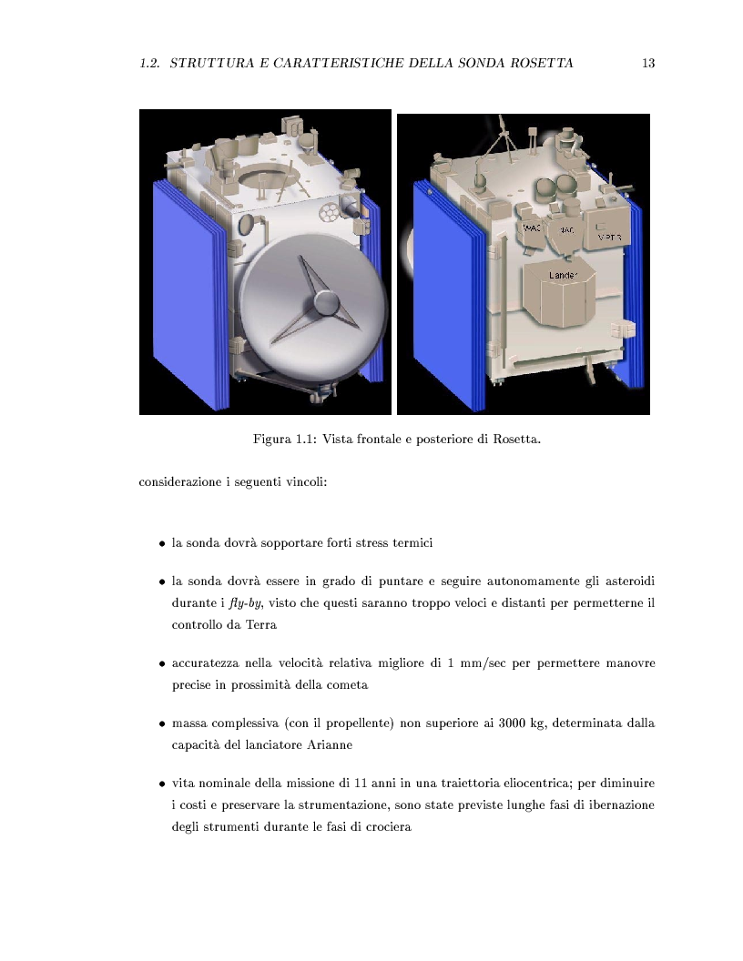 Anteprima della tesi: Missione Rosetta: caratterizzazione scientifica della Wide Angle Camera e studio fisico di corpi minori del Sistema Solare, Pagina 8