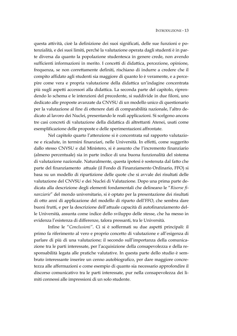 Anteprima della tesi: L'università valutata: concetti e metodi di valutazione tra adempimenti e risultati, Pagina 3
