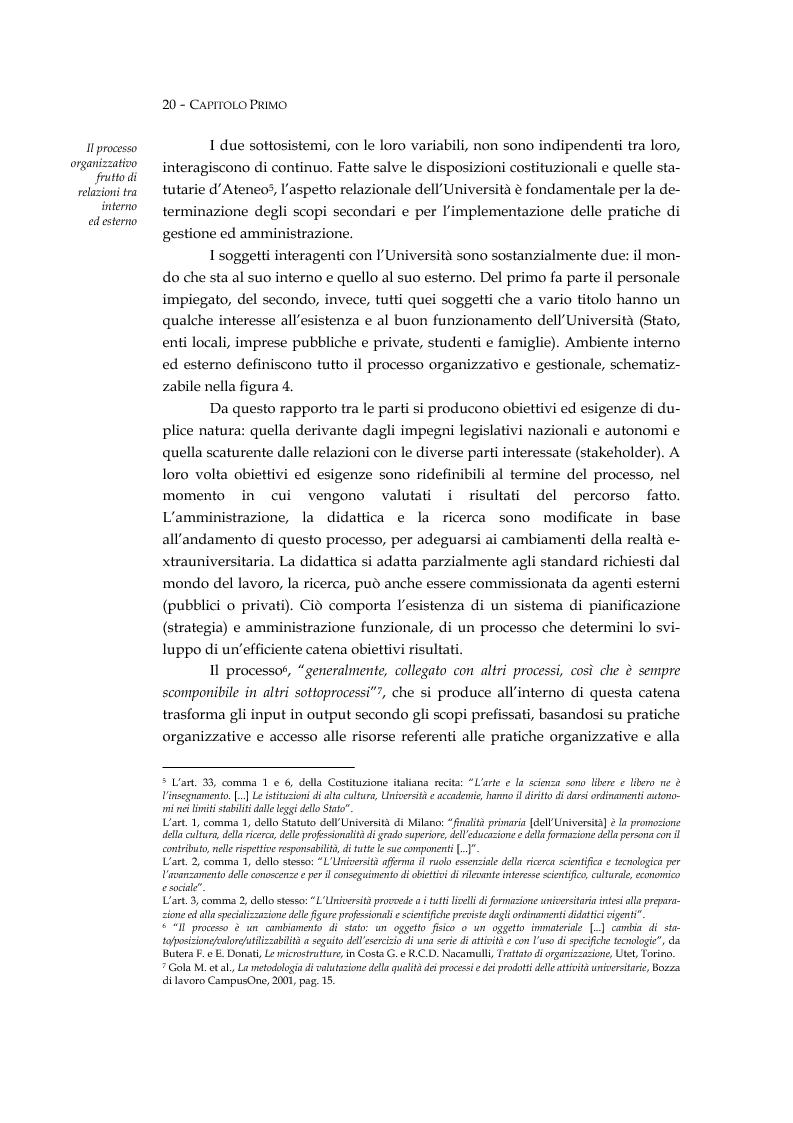 Anteprima della tesi: L'università valutata: concetti e metodi di valutazione tra adempimenti e risultati, Pagina 9
