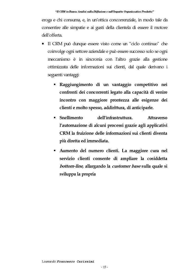 Anteprima della tesi: Il Crm in banca: analisi sulla diffusione e sull'impatto organizzativo prodotto, Pagina 11