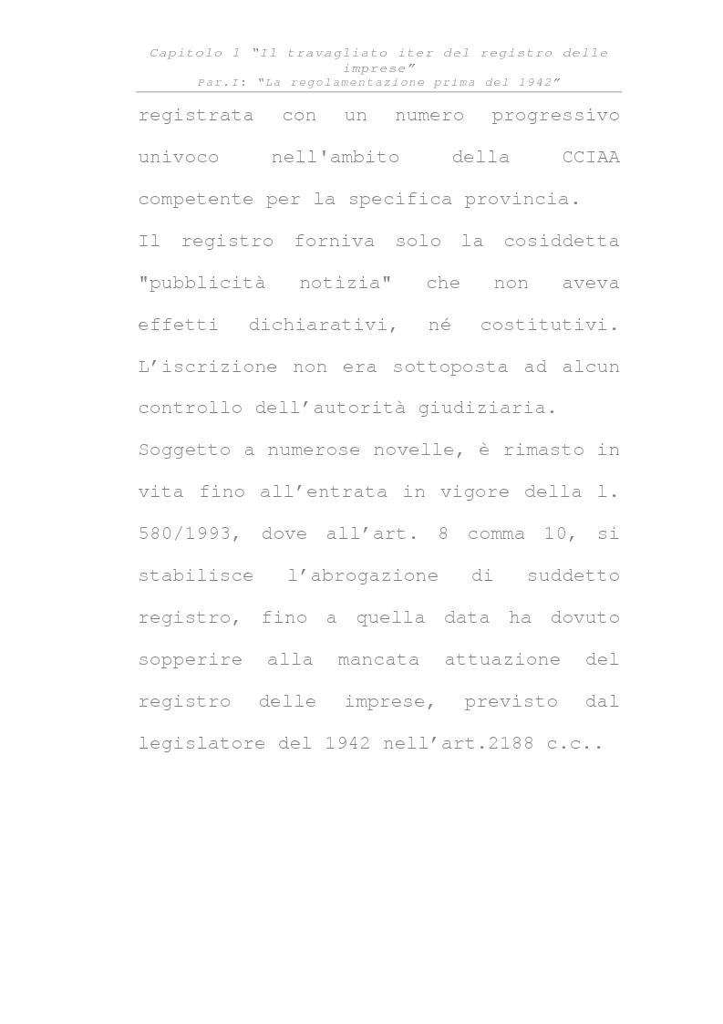 Anteprima della tesi: Il registro delle imprese, Pagina 4