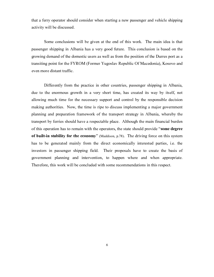 Anteprima della tesi: The development of a passenger shipping line in Albania: Economical and operational consideration., Pagina 2