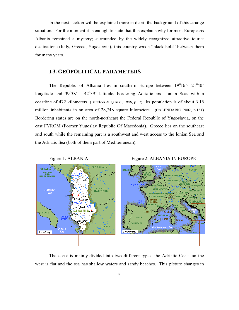 Anteprima della tesi: The development of a passenger shipping line in Albania: Economical and operational consideration., Pagina 4