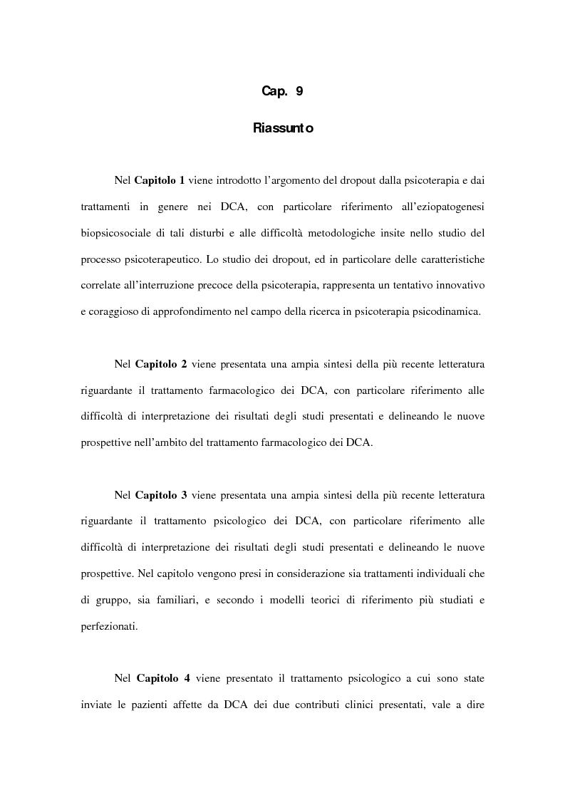 Anteprima della tesi: Il fenomeno del dropout dai trattamenti nei disturbi del comportamento alimentare, Pagina 13