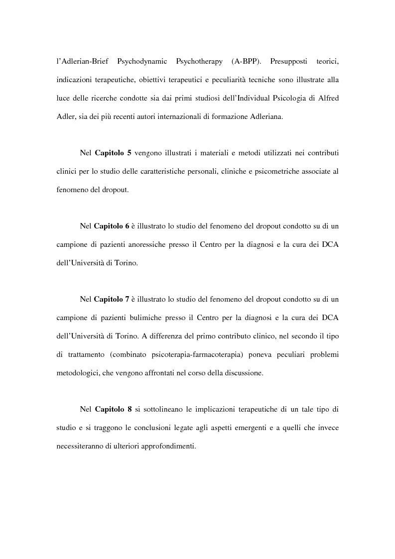 Anteprima della tesi: Il fenomeno del dropout dai trattamenti nei disturbi del comportamento alimentare, Pagina 14
