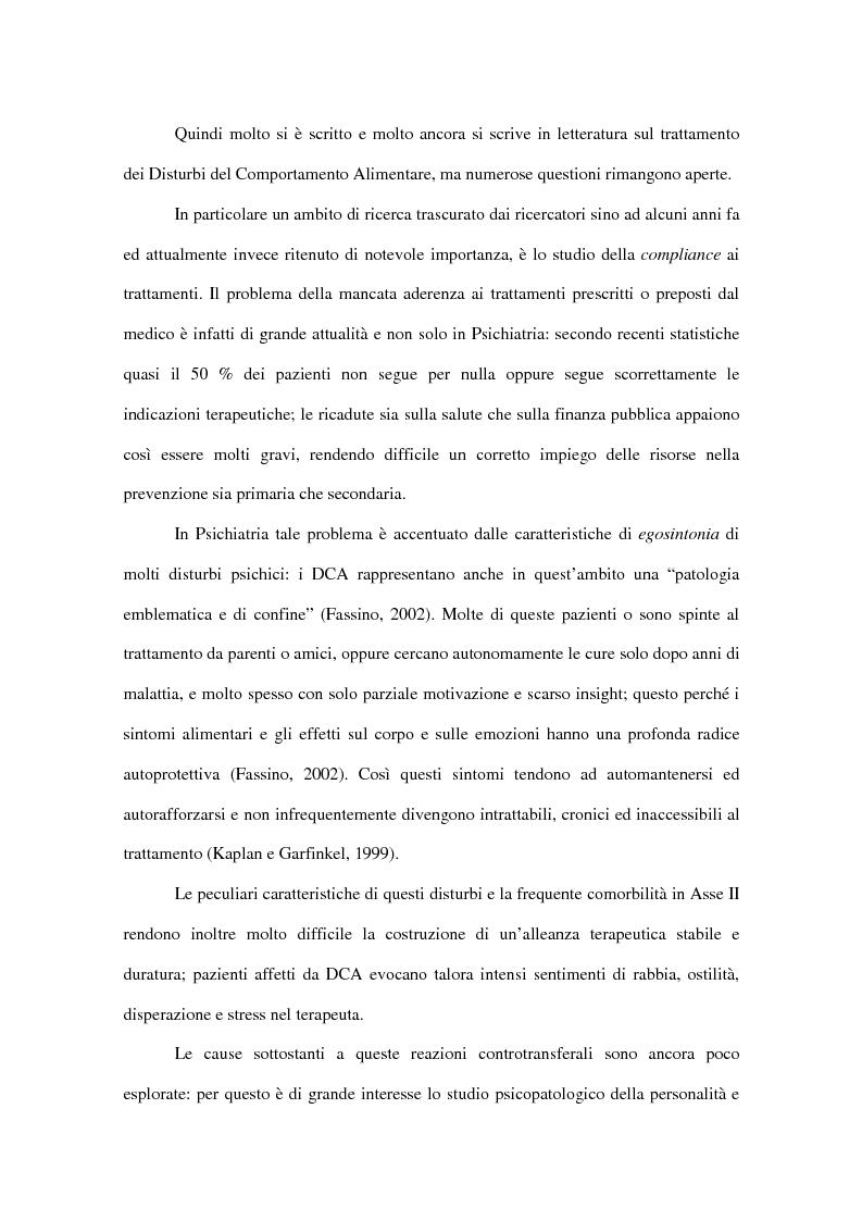 Anteprima della tesi: Il fenomeno del dropout dai trattamenti nei disturbi del comportamento alimentare, Pagina 5