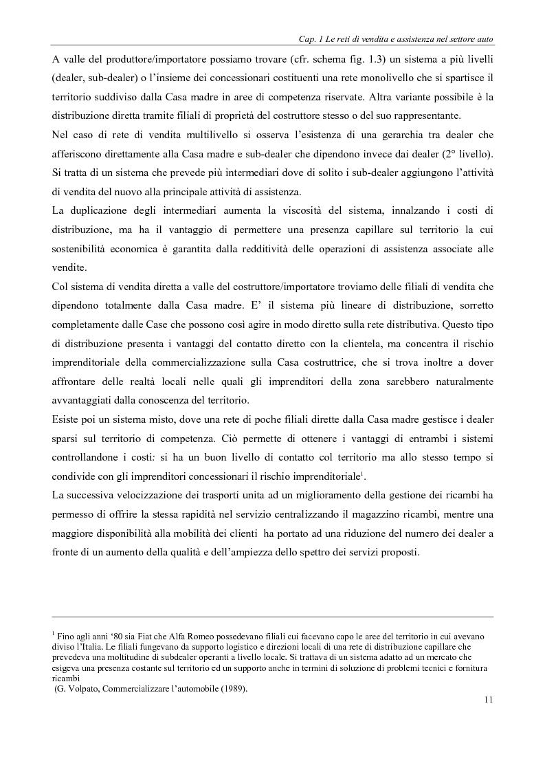 Anteprima della tesi: Evoluzione delle reti distributive nel settore auto in Europa: il reg. EU 1400/2002, Pagina 11