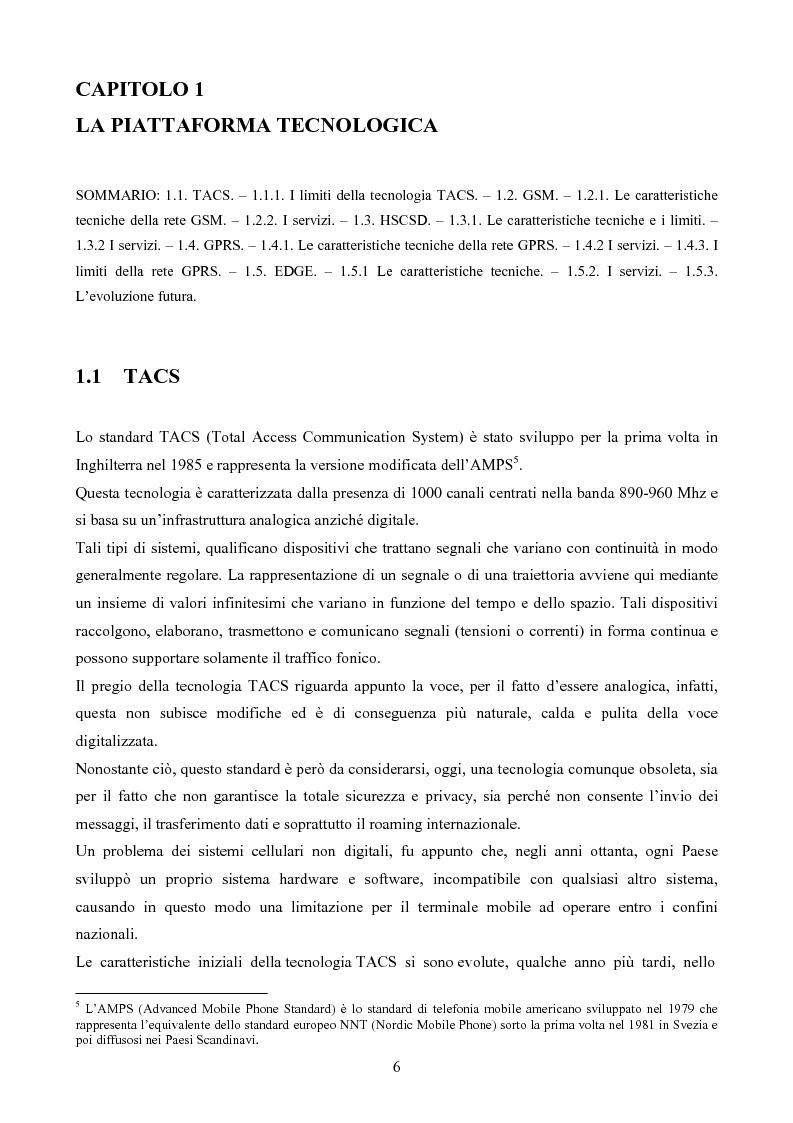 Anteprima della tesi: Evoluzione del settore mobile: Umts e Wi-Fi, tecnologie complementari o competitive?, Pagina 4