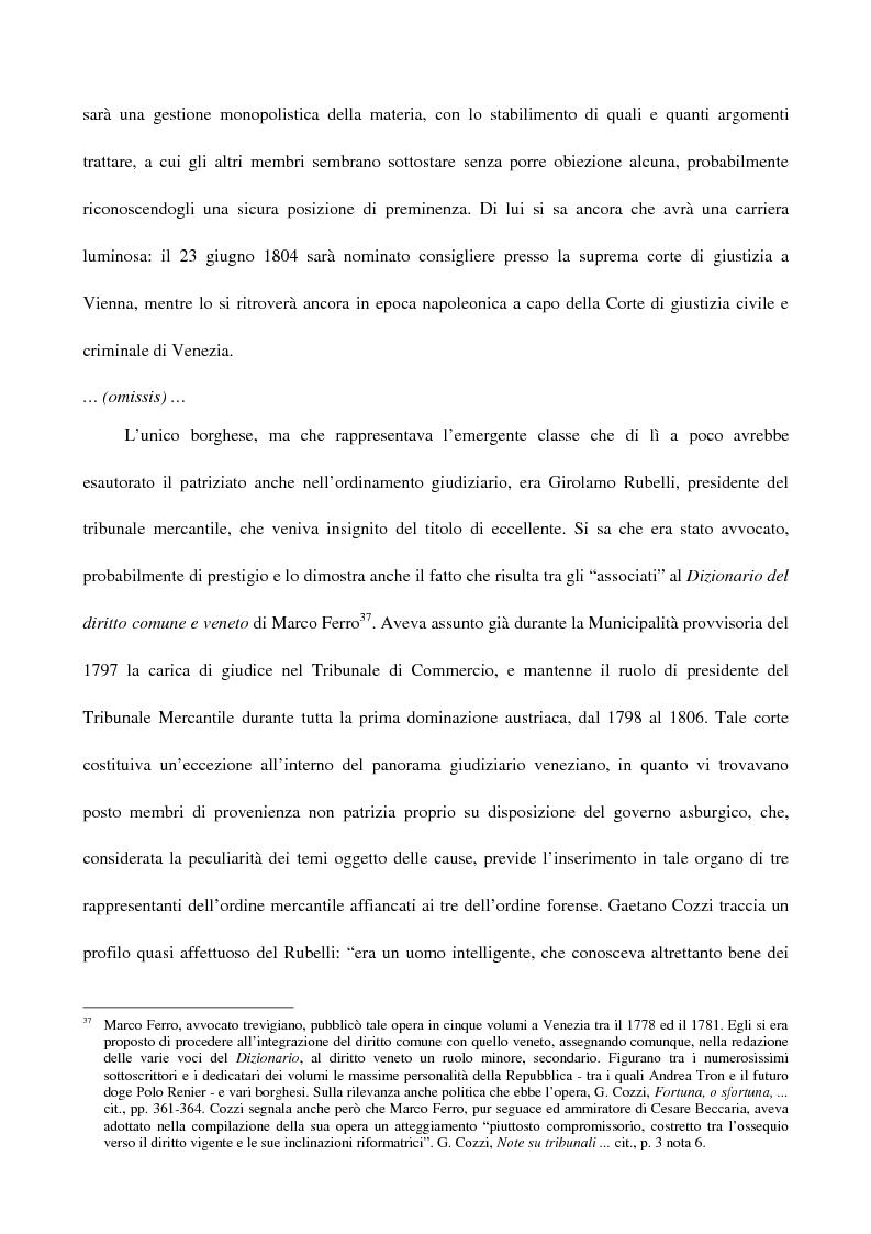 Anteprima della tesi: L'amministrazione della giustizia alla caduta della Repubblica di Venezia. Problematiche in una fase di transizione (1797-1806), Pagina 12