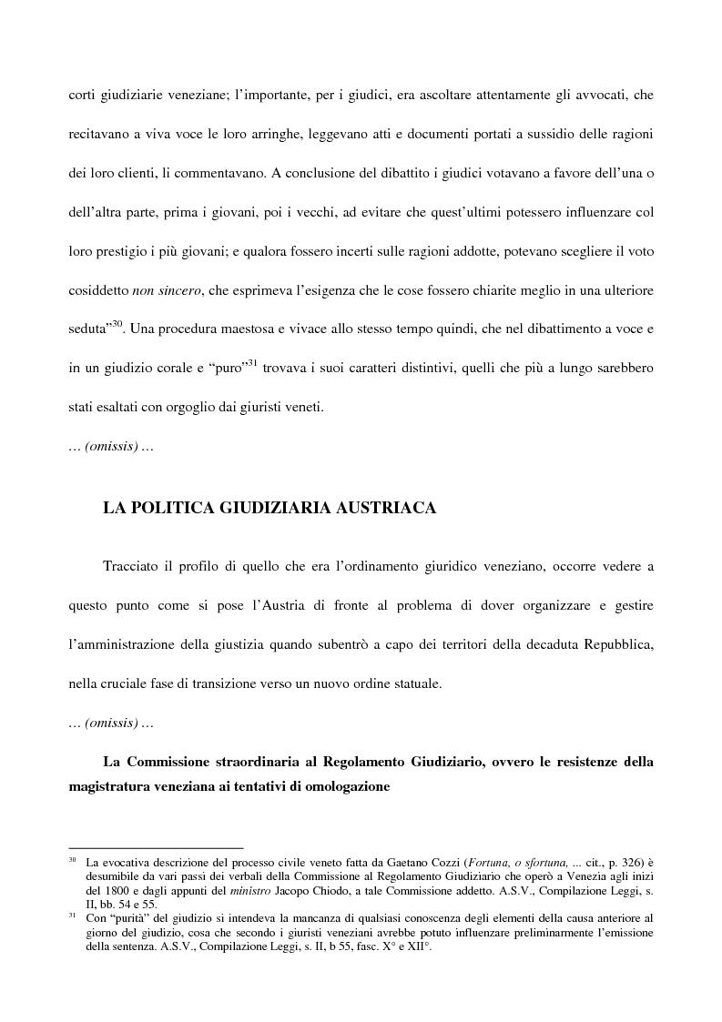 Anteprima della tesi: L'amministrazione della giustizia alla caduta della Repubblica di Venezia. Problematiche in una fase di transizione (1797-1806), Pagina 9