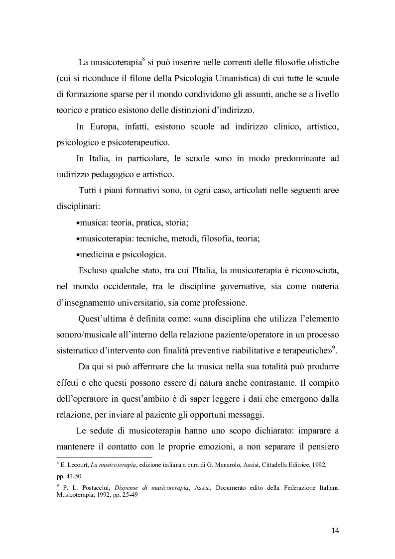 Anteprima della tesi: L'orecchio del silenzio. Musicoterapia applicata all'educazione dei bambini audiolesi, Pagina 8