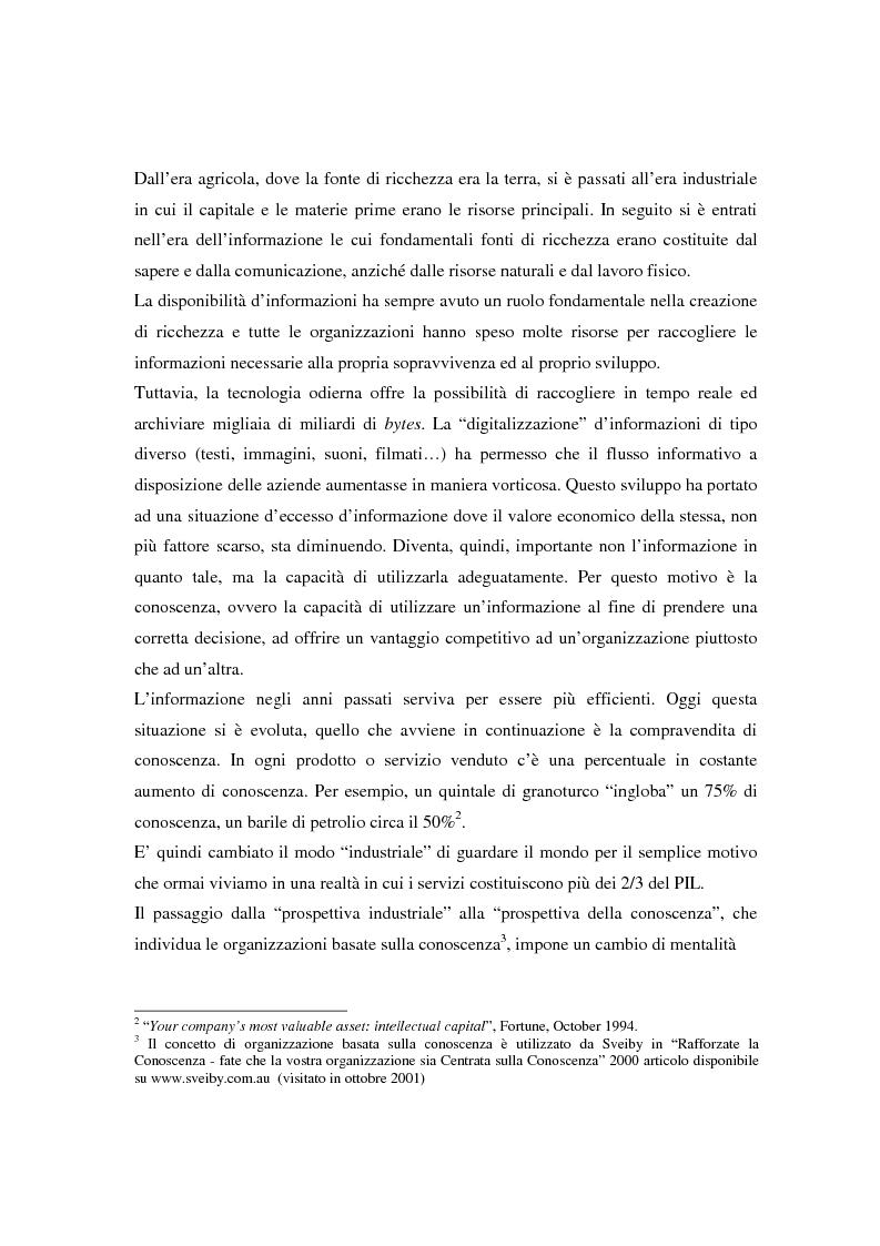 Anteprima della tesi: Metodologie di misurazione ''a punteggio'' per la valutazione del capitale intellettuale, Pagina 11