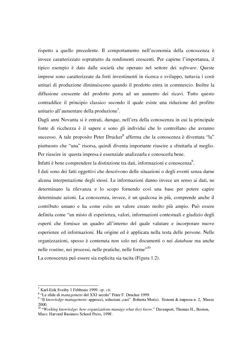Anteprima della tesi: Metodologie di misurazione ''a punteggio'' per la valutazione del capitale intellettuale, Pagina 15
