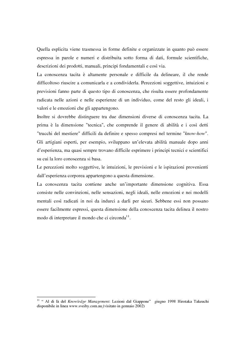 Anteprima della tesi: Metodologie di misurazione ''a punteggio'' per la valutazione del capitale intellettuale, Pagina 16