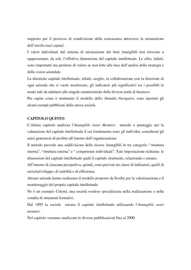 Anteprima della tesi: Metodologie di misurazione ''a punteggio'' per la valutazione del capitale intellettuale, Pagina 7
