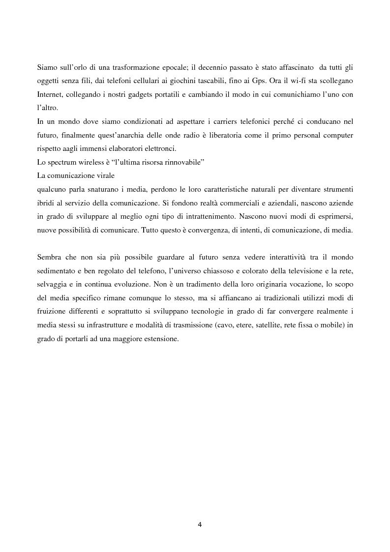 Anteprima della tesi: Internet senza fili, Pagina 1