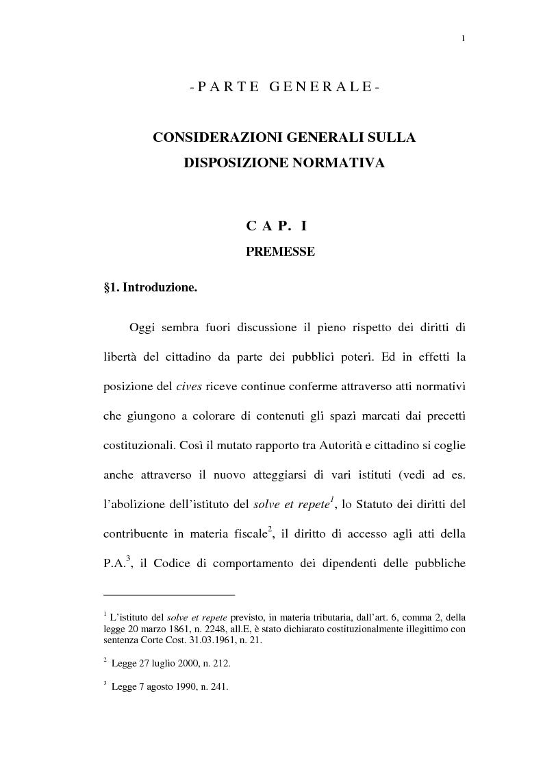 Anteprima della tesi: Reazione legittima agli atti arbitrari del Pubblico Ufficiale Art. 4 D.Lgt. 288/1944, Pagina 1