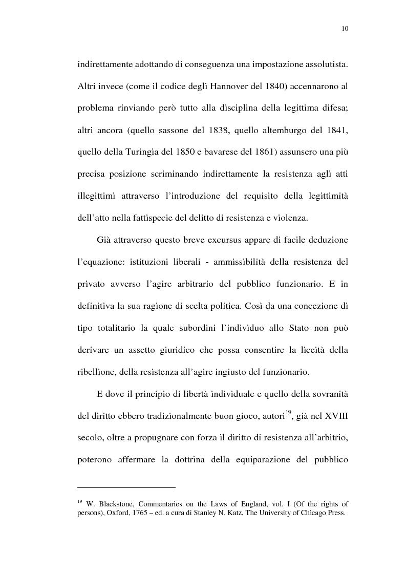 Anteprima della tesi: Reazione legittima agli atti arbitrari del Pubblico Ufficiale Art. 4 D.Lgt. 288/1944, Pagina 10