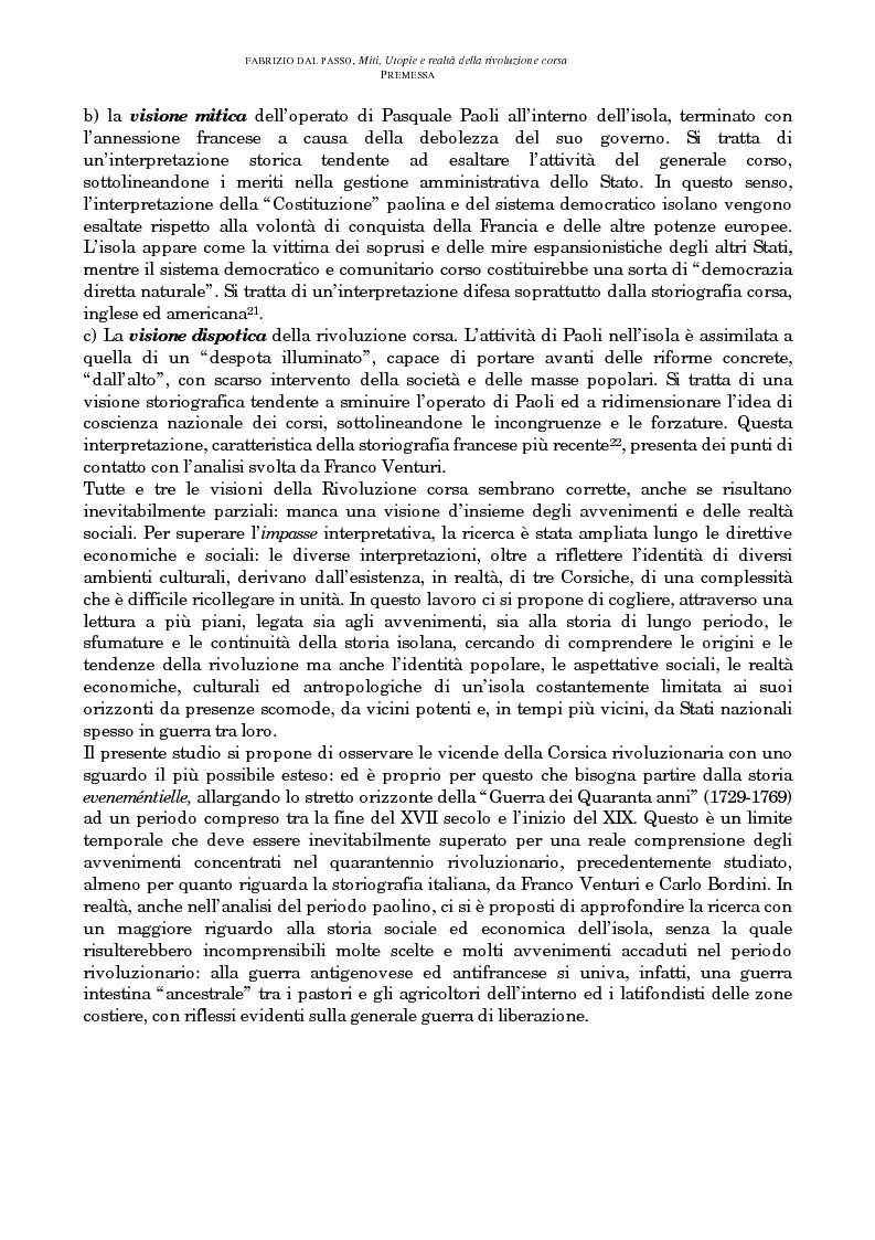 Anteprima della tesi: Miti, utopie e realtà della rivoluzione corsa (1729-1769), Pagina 3