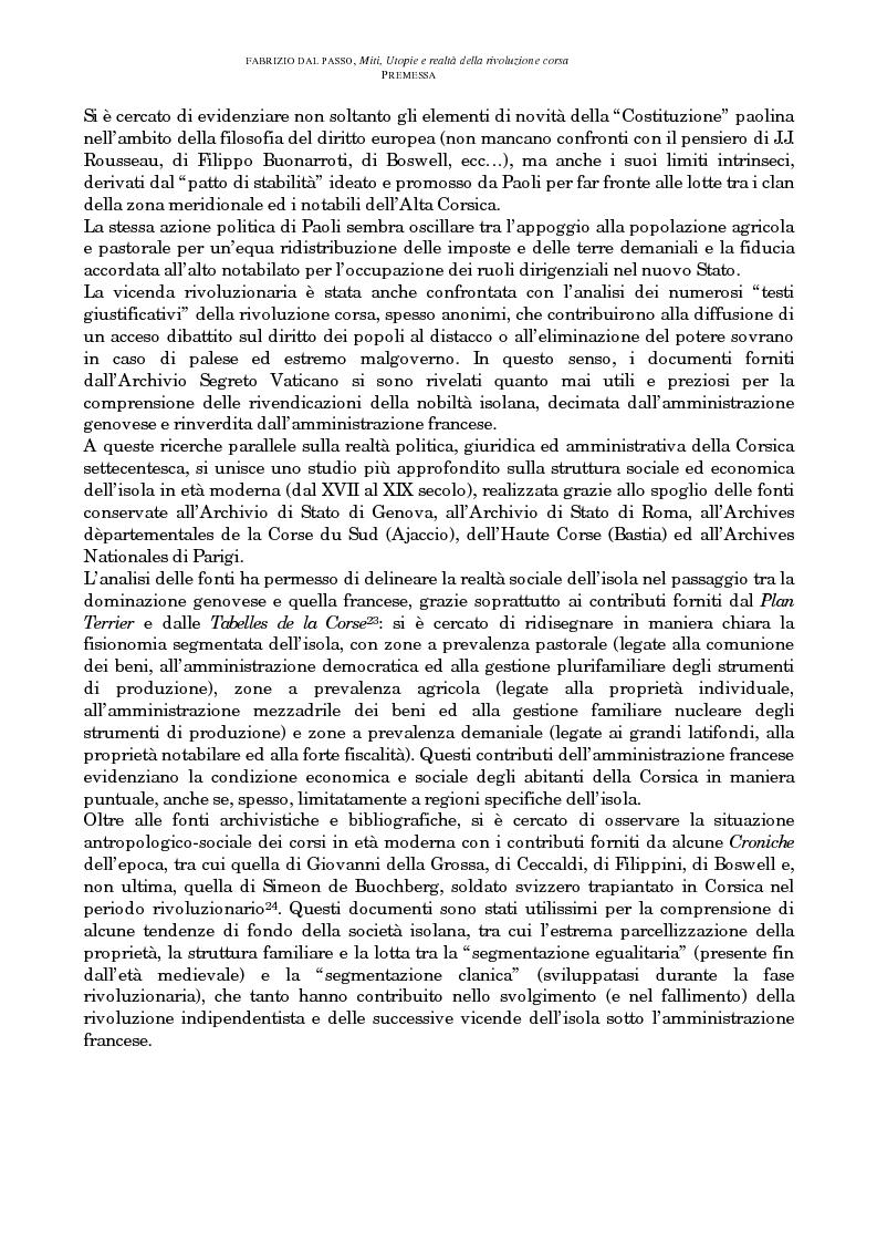 Anteprima della tesi: Miti, utopie e realtà della rivoluzione corsa (1729-1769), Pagina 4