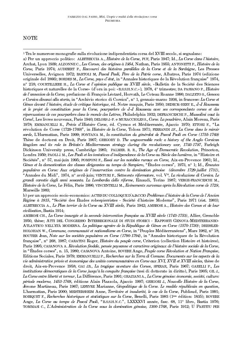 Anteprima della tesi: Miti, utopie e realtà della rivoluzione corsa (1729-1769), Pagina 6