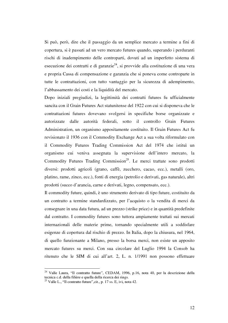 Anteprima della tesi: La disciplina giuridica dei contratti swaps, Pagina 10