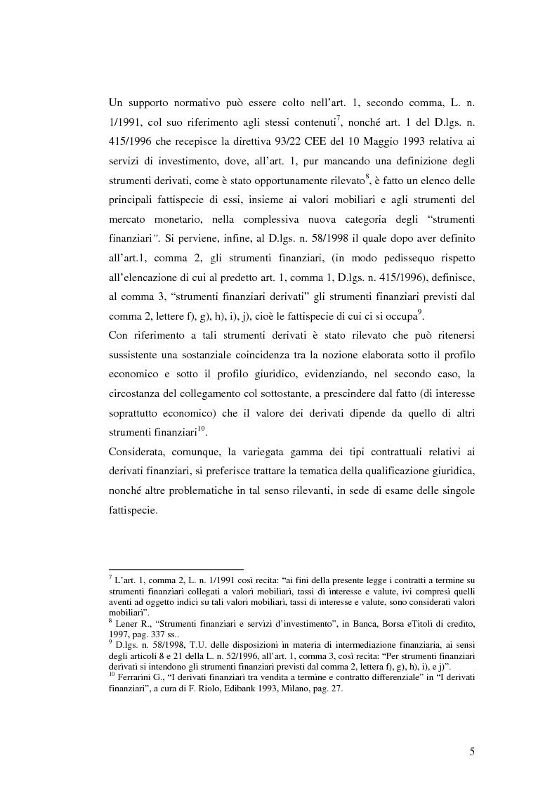 Anteprima della tesi: La disciplina giuridica dei contratti swaps, Pagina 3