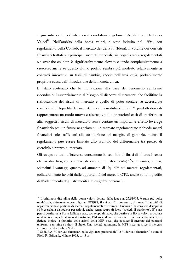 Anteprima della tesi: La disciplina giuridica dei contratti swaps, Pagina 7