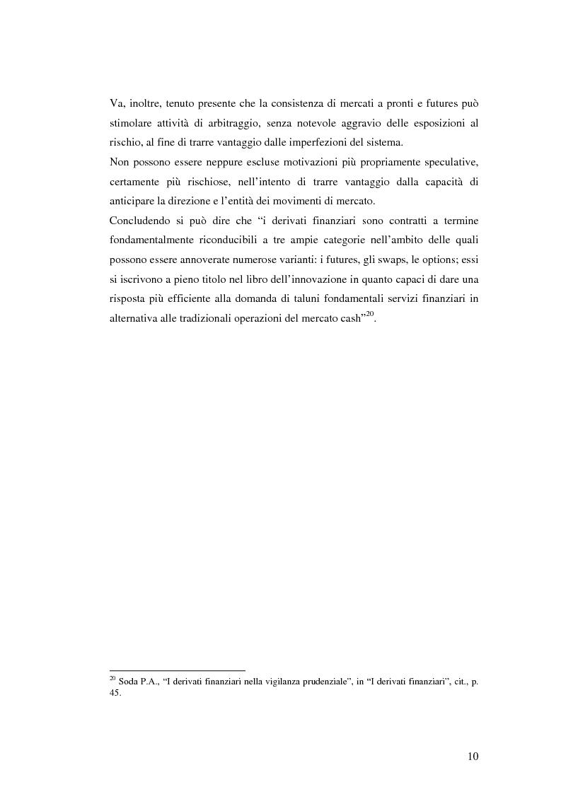 Anteprima della tesi: La disciplina giuridica dei contratti swaps, Pagina 8