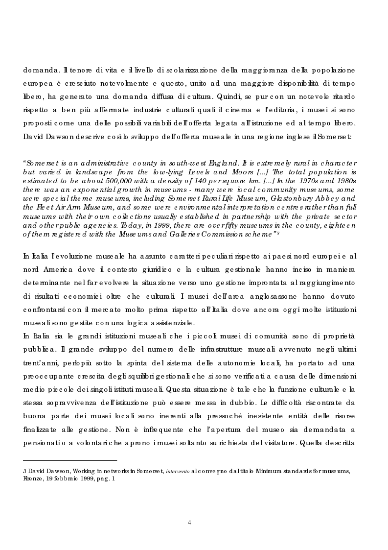 Anteprima della tesi: Politica e gestione dei musei: il caso del sistema dei musei senesi, Pagina 2