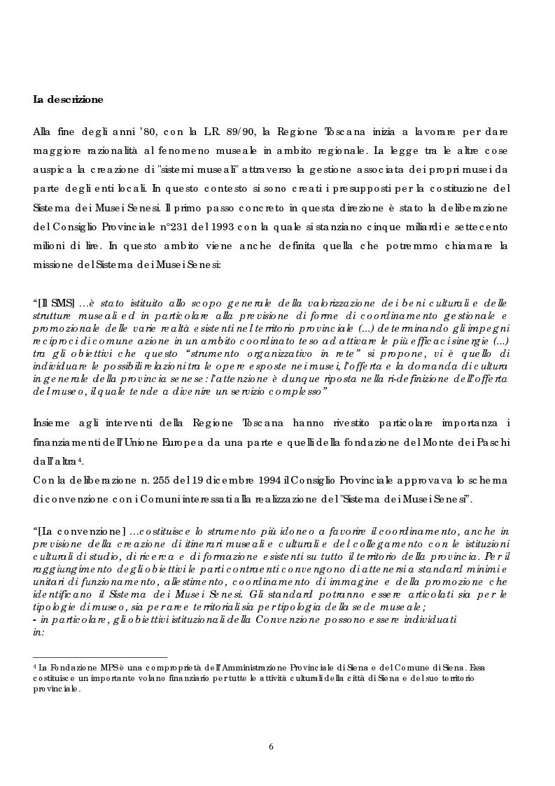 Anteprima della tesi: Politica e gestione dei musei: il caso del sistema dei musei senesi, Pagina 4