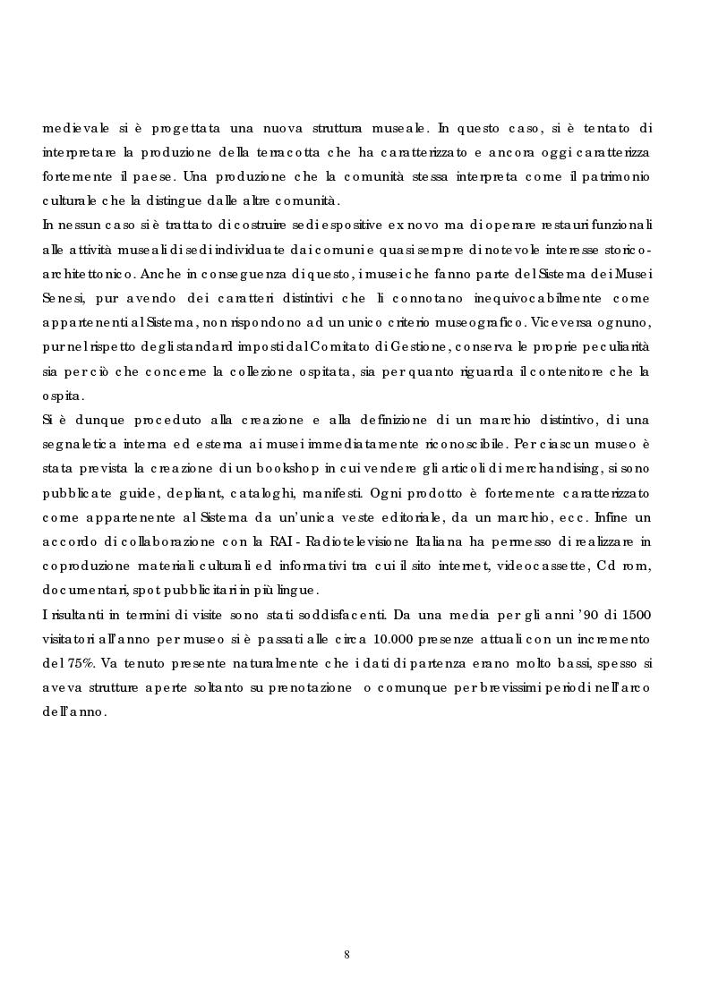 Anteprima della tesi: Politica e gestione dei musei: il caso del sistema dei musei senesi, Pagina 6