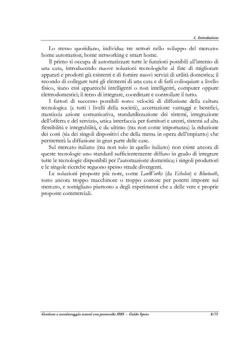 Anteprima della tesi: Progetto e realizzazione di un sistema a microcontrollore per la gestione ed il monitoraggio remoti con protocollo SMS, Pagina 6