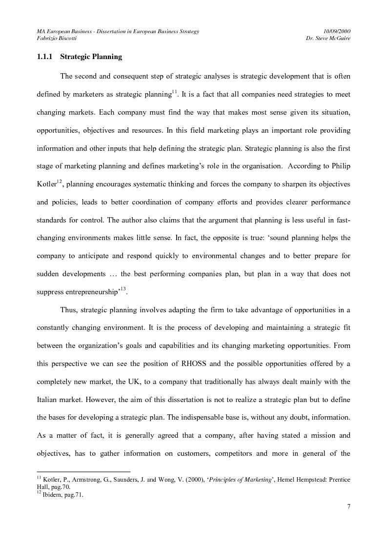 Anteprima della tesi: The market expansion opportunities for a European manufacturing company in a foreign European country: the case of an Italian air conditioning company, RHOSS S.p.A and the market opportunities in the UK, Pagina 10