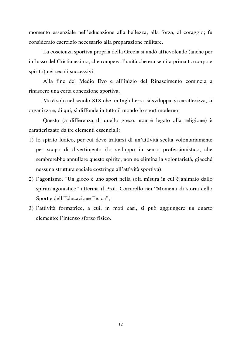 Anteprima della tesi: Apprendimento ludico e avviamento al gioco del calcio, Pagina 10