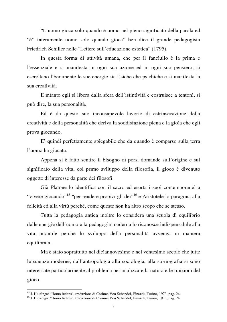 Anteprima della tesi: Apprendimento ludico e avviamento al gioco del calcio, Pagina 5