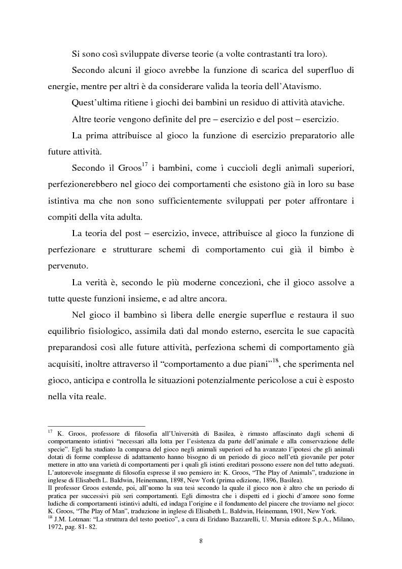 Anteprima della tesi: Apprendimento ludico e avviamento al gioco del calcio, Pagina 6