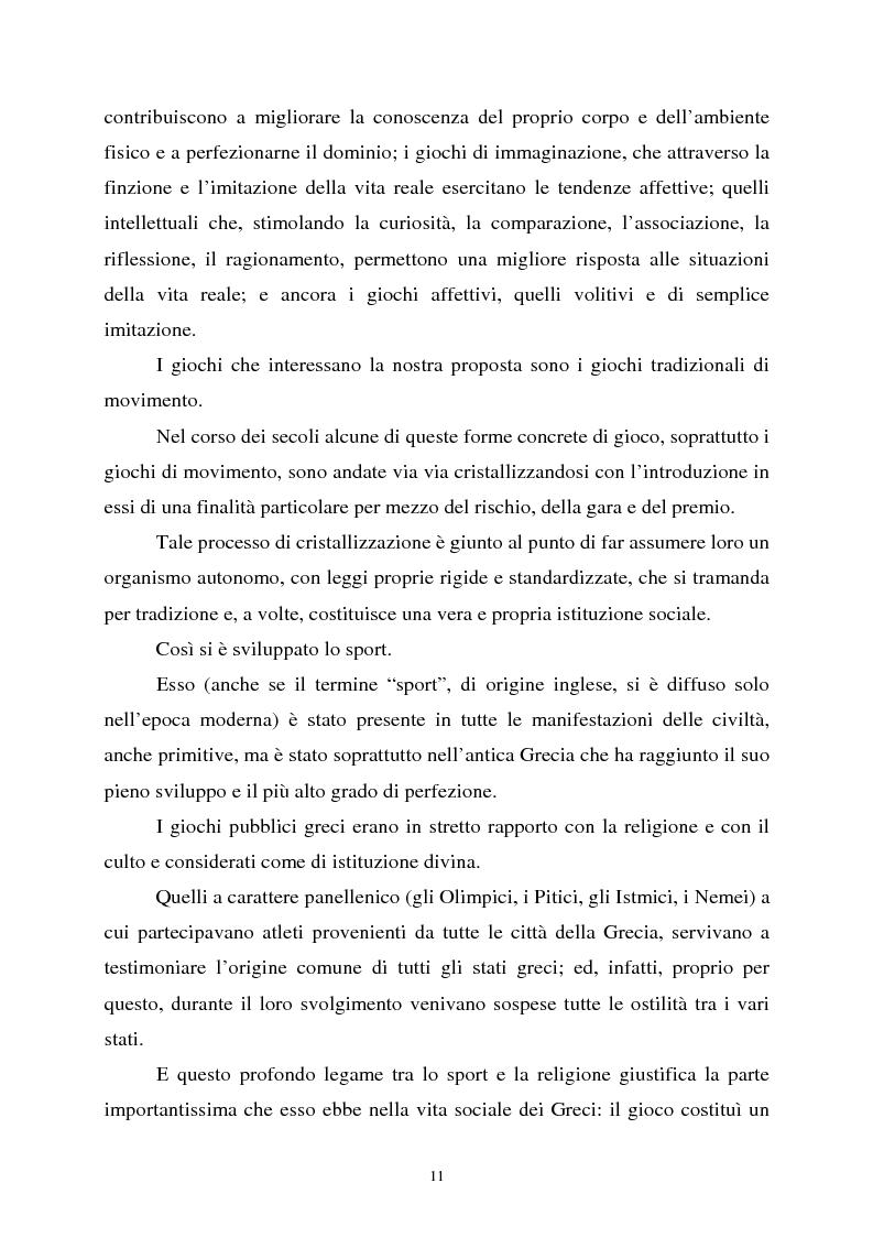 Anteprima della tesi: Apprendimento ludico e avviamento al gioco del calcio, Pagina 9