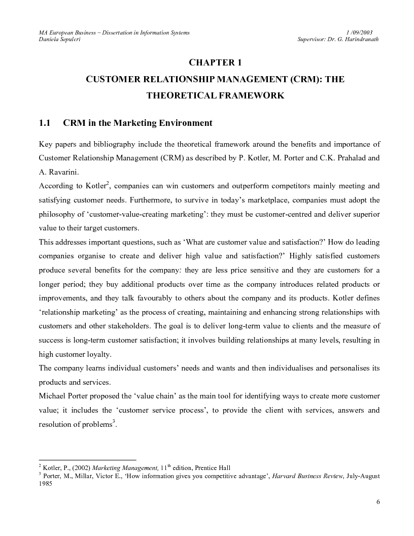 Anteprima della tesi: The Customer Relationship Management (CRM) Software Market in Italy. Key Trends and Dynamics., Pagina 3