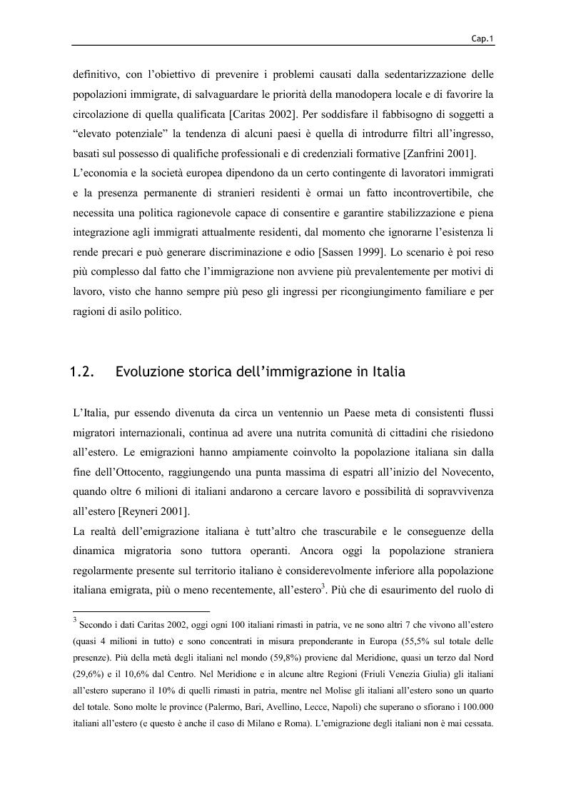 Anteprima della tesi: Immigrazione e lavoro. Il ruolo degli imprenditori nei processi di inserimento lavorativo e integrazione sociale degli immigrati, Pagina 14