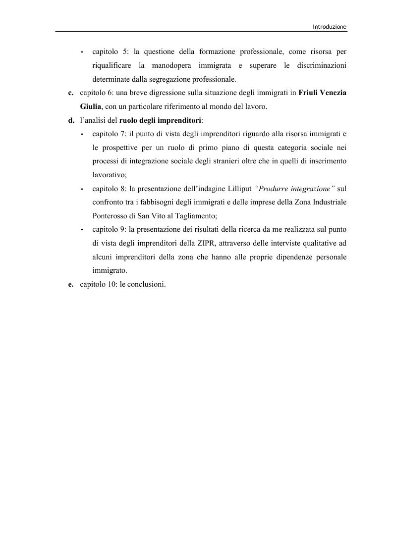 Anteprima della tesi: Immigrazione e lavoro. Il ruolo degli imprenditori nei processi di inserimento lavorativo e integrazione sociale degli immigrati, Pagina 5