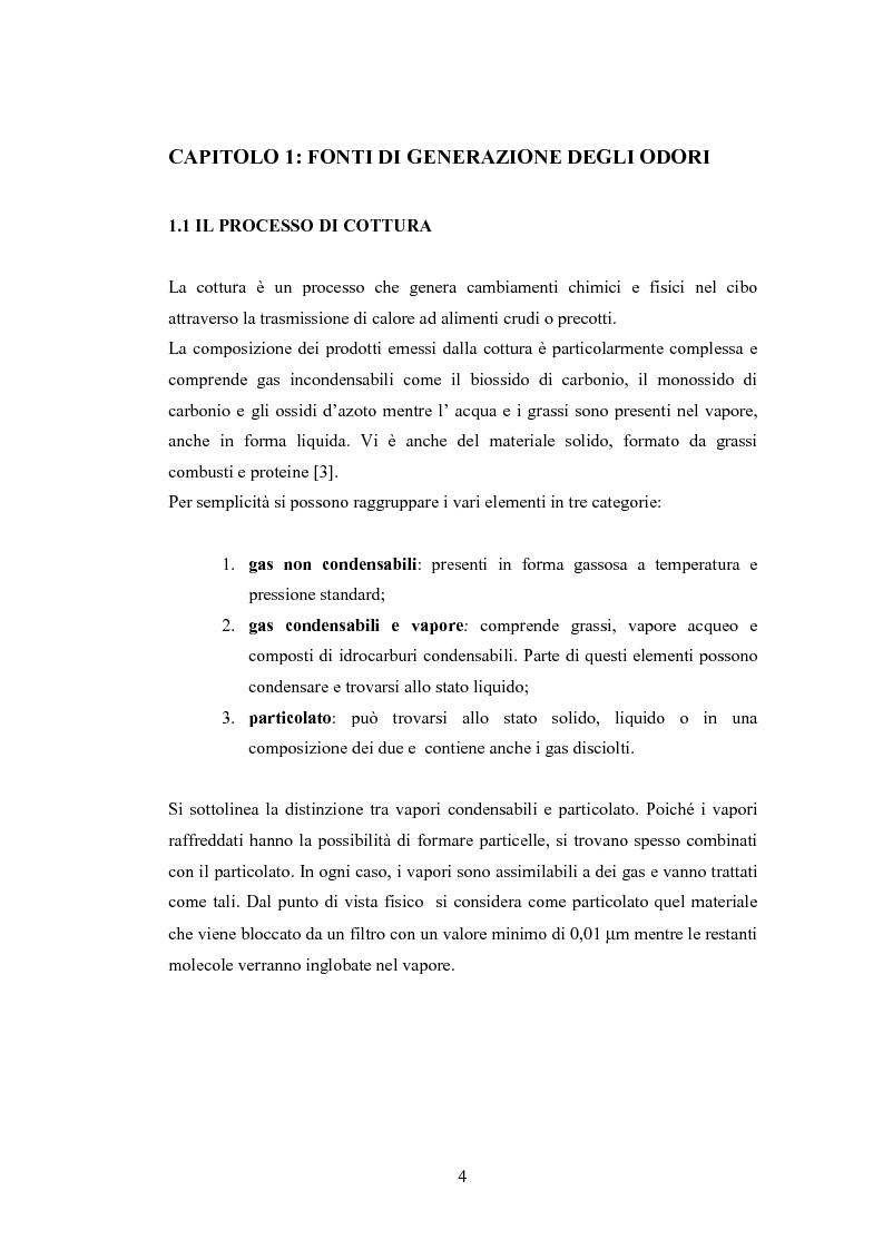 Anteprima della tesi: Abbattimento degli odori nelle cucine industriali, Pagina 4