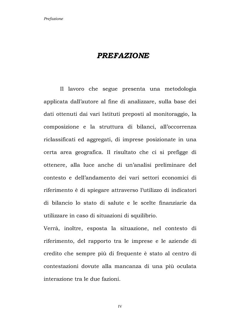Anteprima della tesi: Dinamiche patrimoniali, finanziarie ed economiche nelle imprese della capitanata, Pagina 1