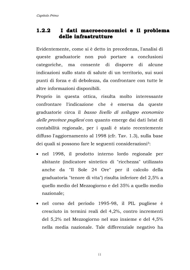 Anteprima della tesi: Dinamiche patrimoniali, finanziarie ed economiche nelle imprese della capitanata, Pagina 12