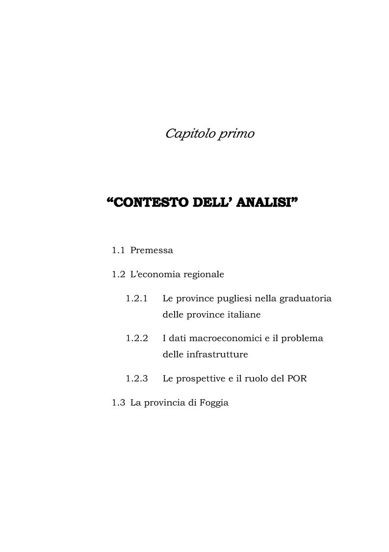 Anteprima della tesi: Dinamiche patrimoniali, finanziarie ed economiche nelle imprese della capitanata, Pagina 2