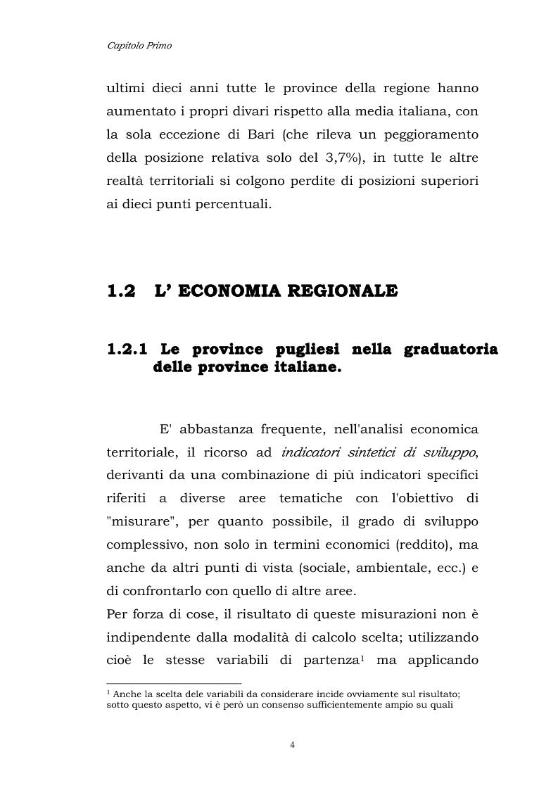 Anteprima della tesi: Dinamiche patrimoniali, finanziarie ed economiche nelle imprese della capitanata, Pagina 5