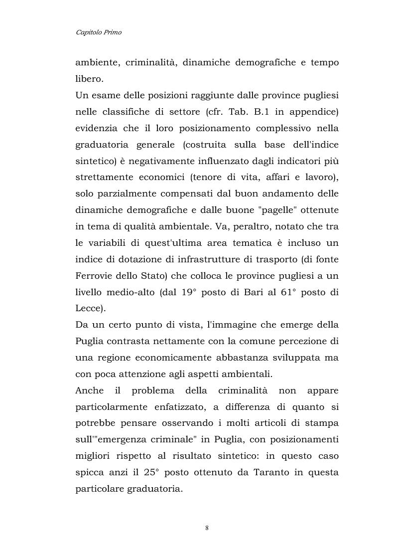 Anteprima della tesi: Dinamiche patrimoniali, finanziarie ed economiche nelle imprese della capitanata, Pagina 9